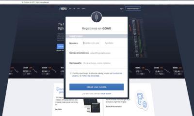como registrarse en GDAX