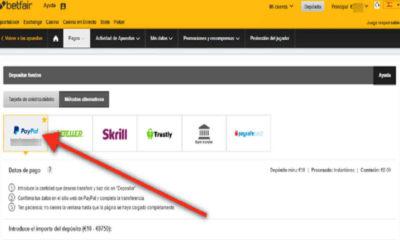 ¿Cómo depositar en Betfair con Paypal?